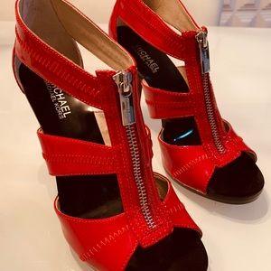 Michael Kors Red Patent Berkley Heels Sandals